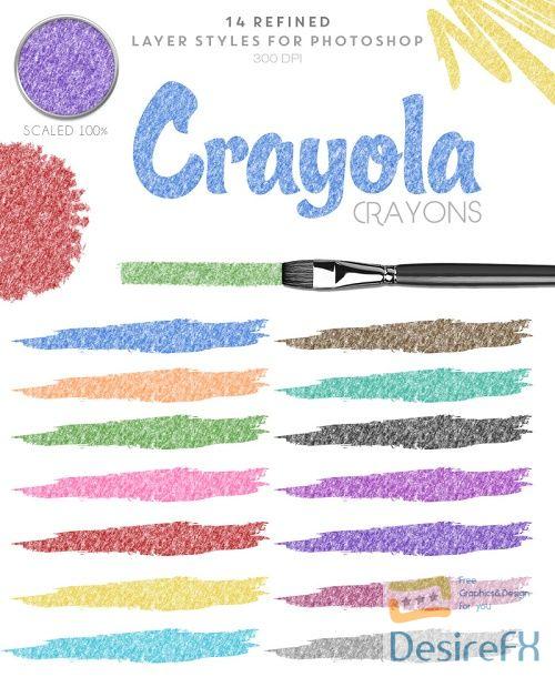 Thehungryjpeg - Crayola Crayon - Photoshop Styles - 81609