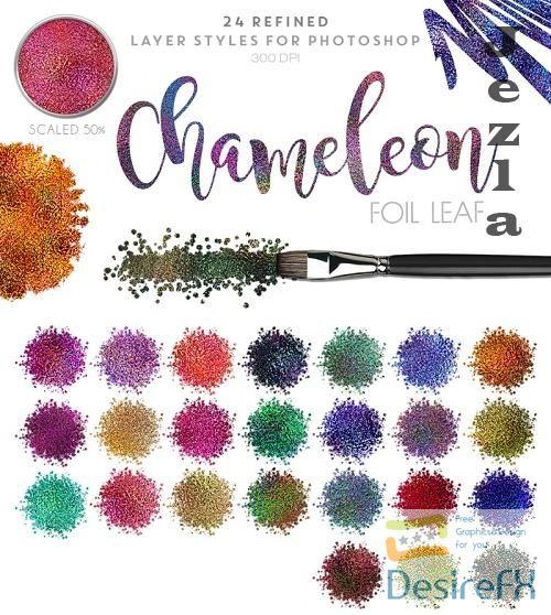 Thehungryjpeg - Chameleon Foil Leaf - 95564