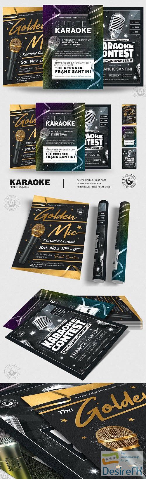 Karaoke Flyer Bundle V3 - 4793095