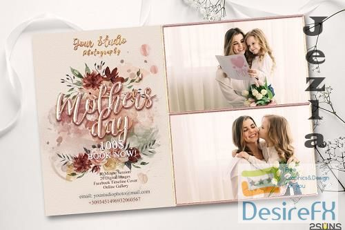 Mother's Day Digital Photoshop Template - 557543