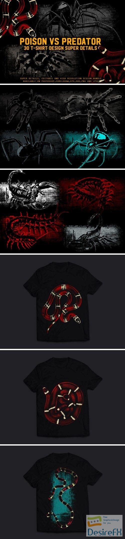 Poison Vs. Predator 30 T-Shirt Design - 4309774