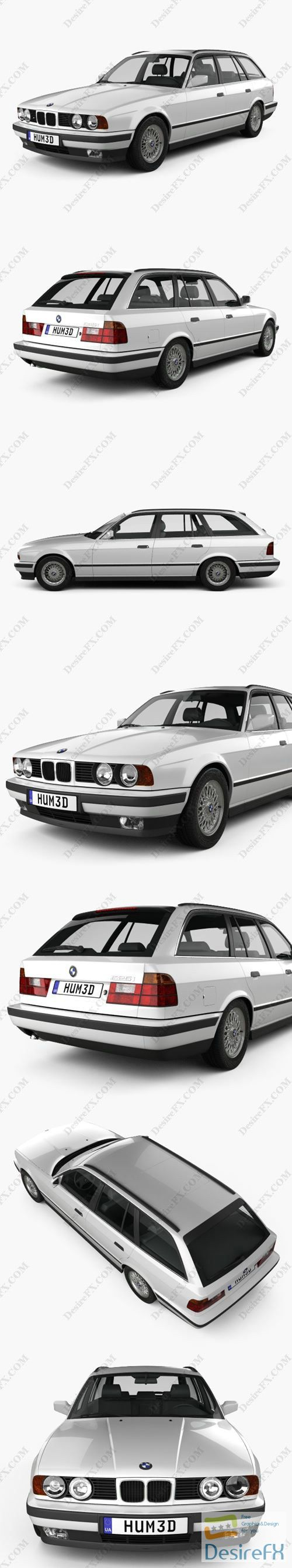 BMW 5 Series touring 1993 3D Model