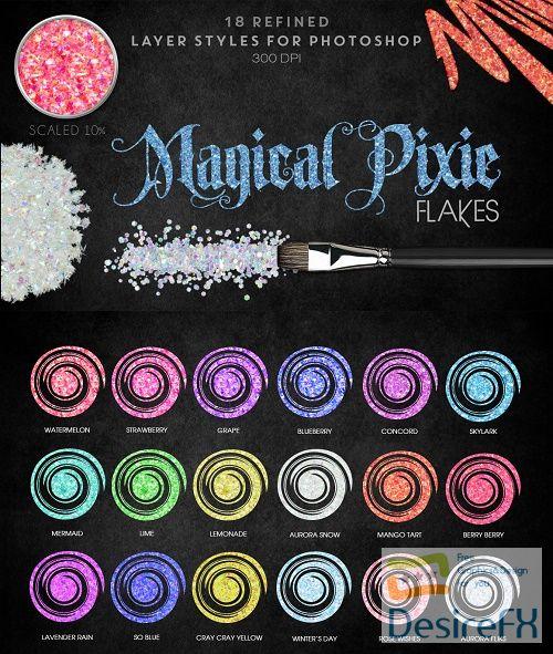 Thehungryjpeg - Magical Pixie Flakes - Photoshop Styles - 36743