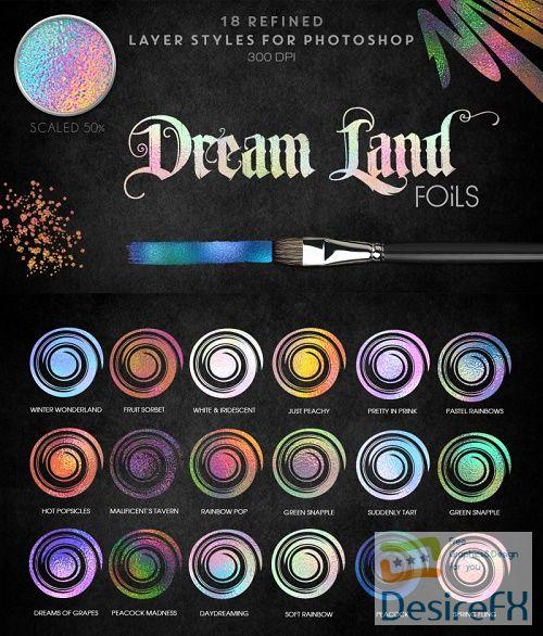 Thehungryjpeg - Dreamland Foils - Photoshop Styles - 34710