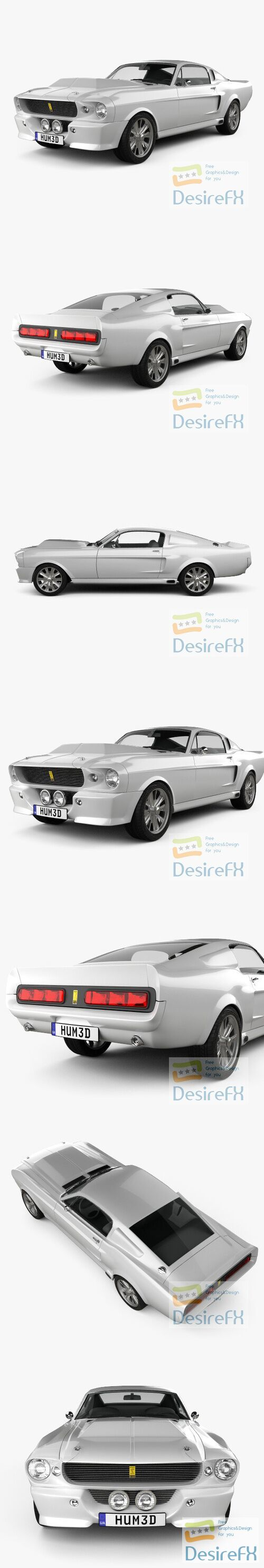 Ford Mustang Shelby Gt500 Eleanor 1967 3D Model
