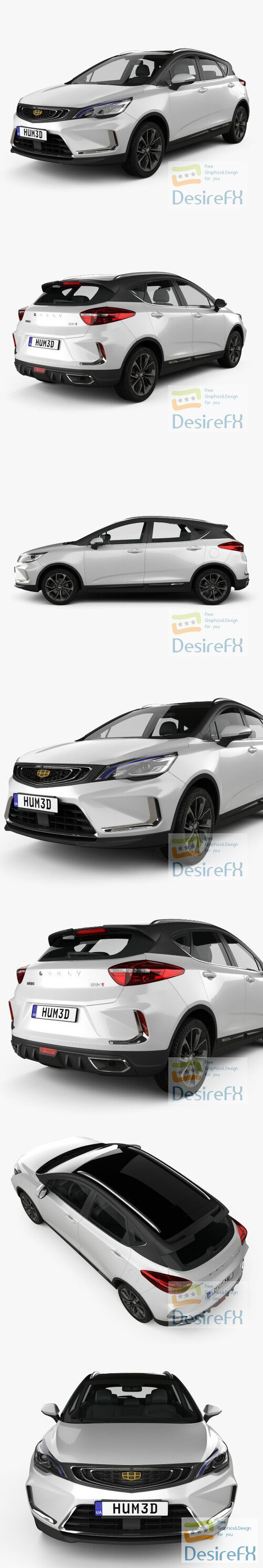 Geely Emgrand GS Dynamic 2019 3D Model