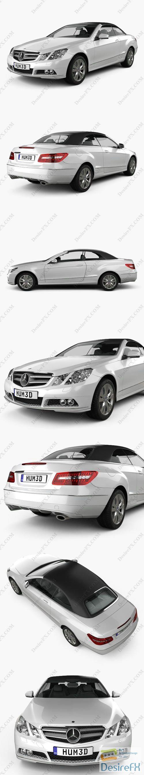 Mercedes-Benz E-Class cabrio 2011 3D Model