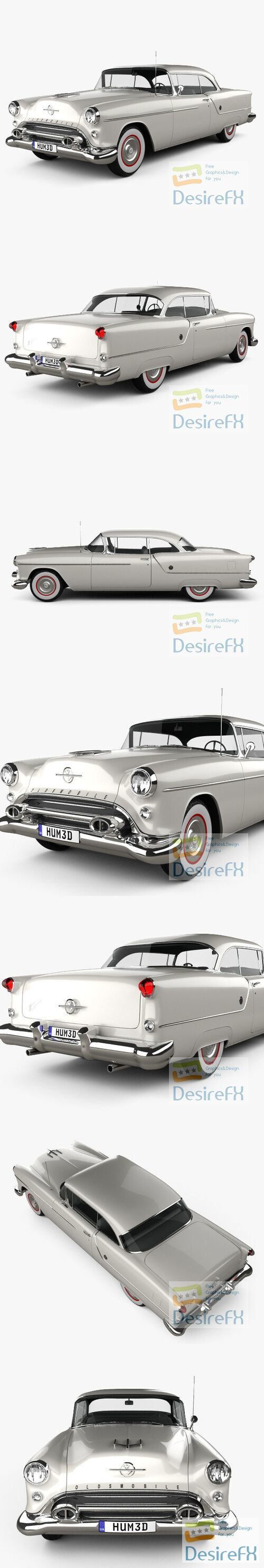 Oldsmobile 88 Super Holiday coupe 1954 3D Model