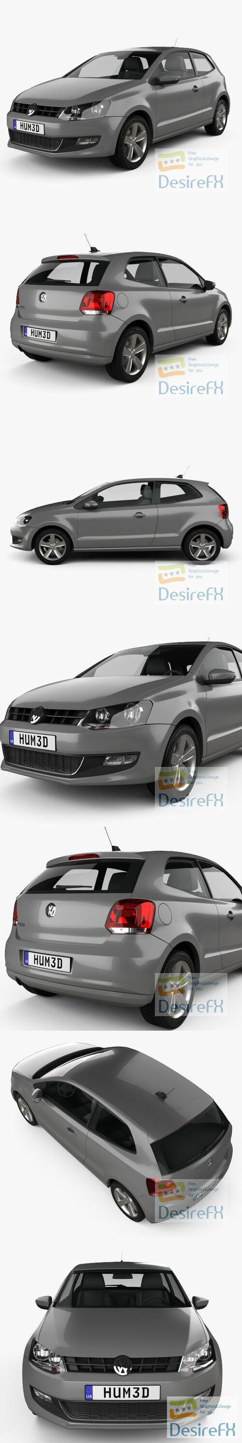 Volkswagen Polo 3-door 2010 3D Model