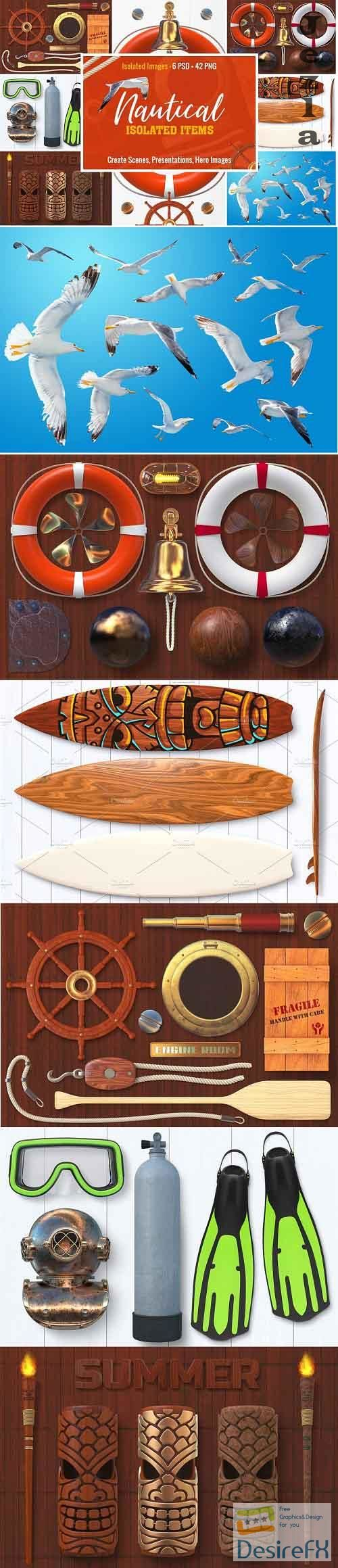 Isolated Nautical Items - 1777034
