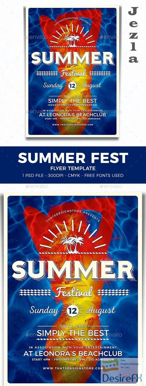 Summer Fest Flyer Template V3 - 11588066 - 281243