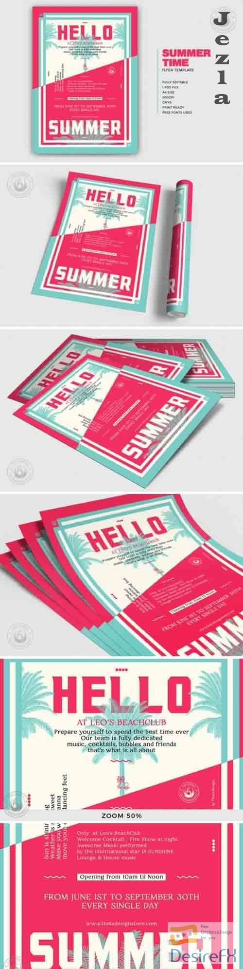 Summertime Flyer Template V4 - 4905809