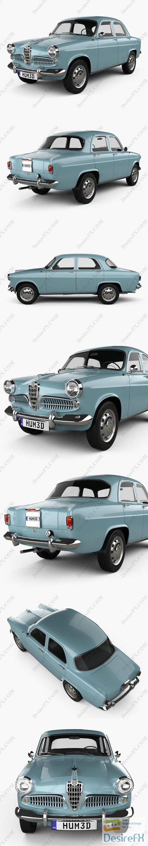 Alfa Romeo Giulietta Berlina 1955 3D Model
