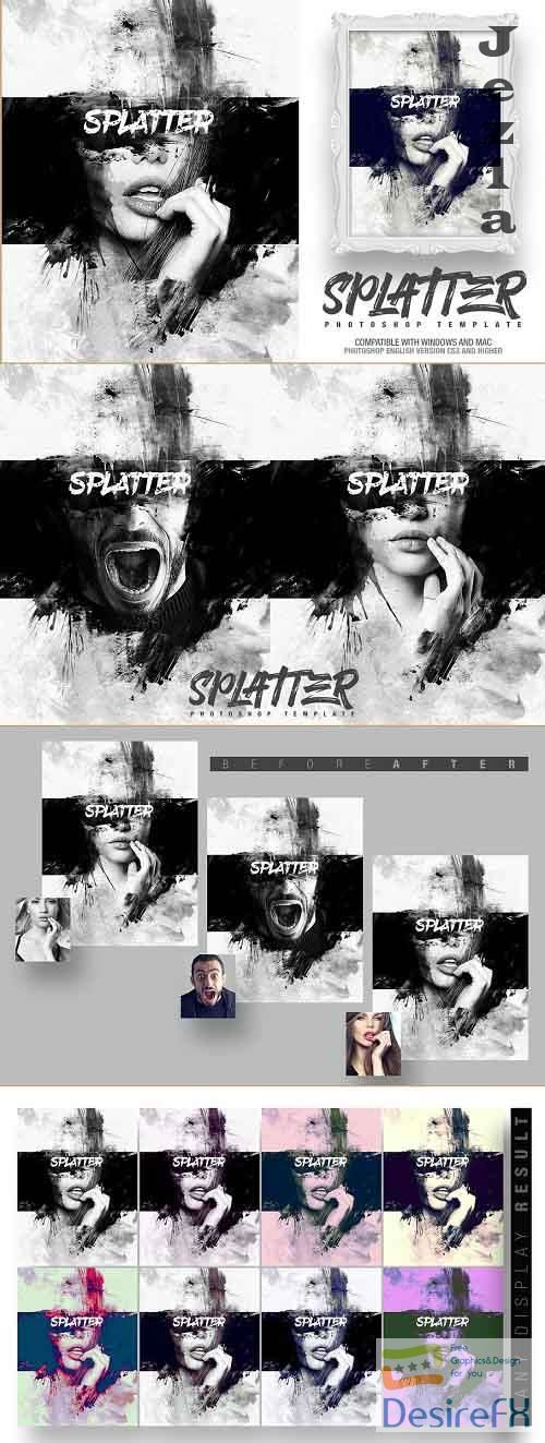 Splatter Photo Template - 4629580