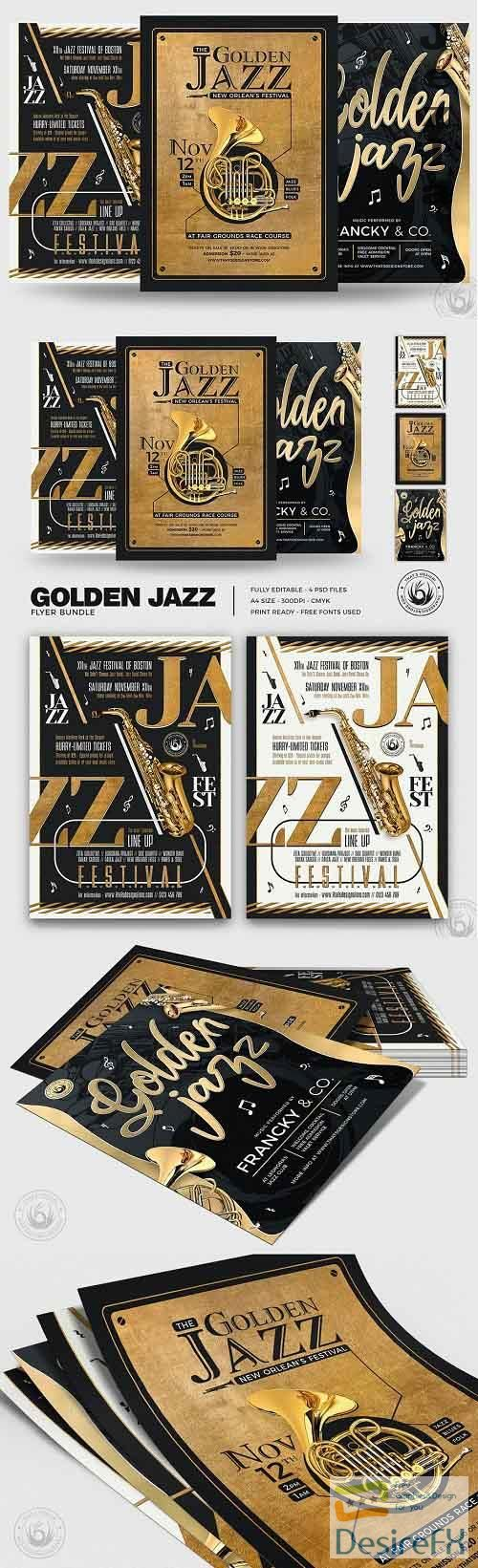 Golden Jazz Flyer Bundle - 4980753
