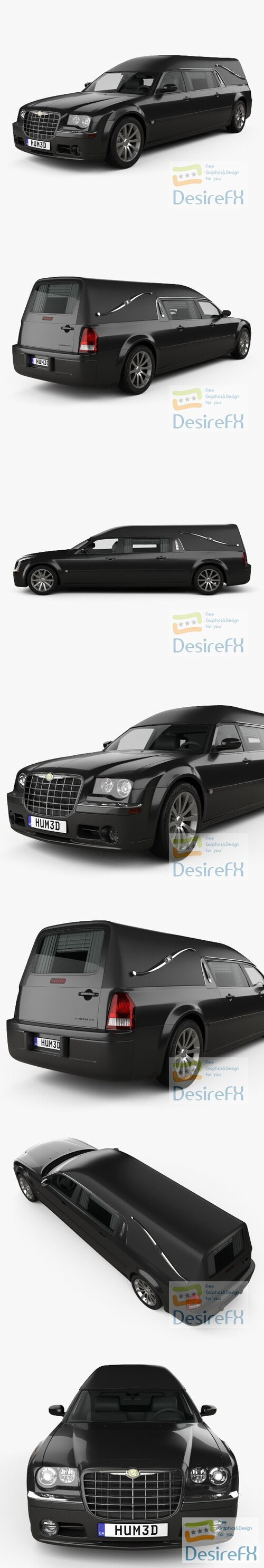 Chrysler 300C hearse 2009 3D Model