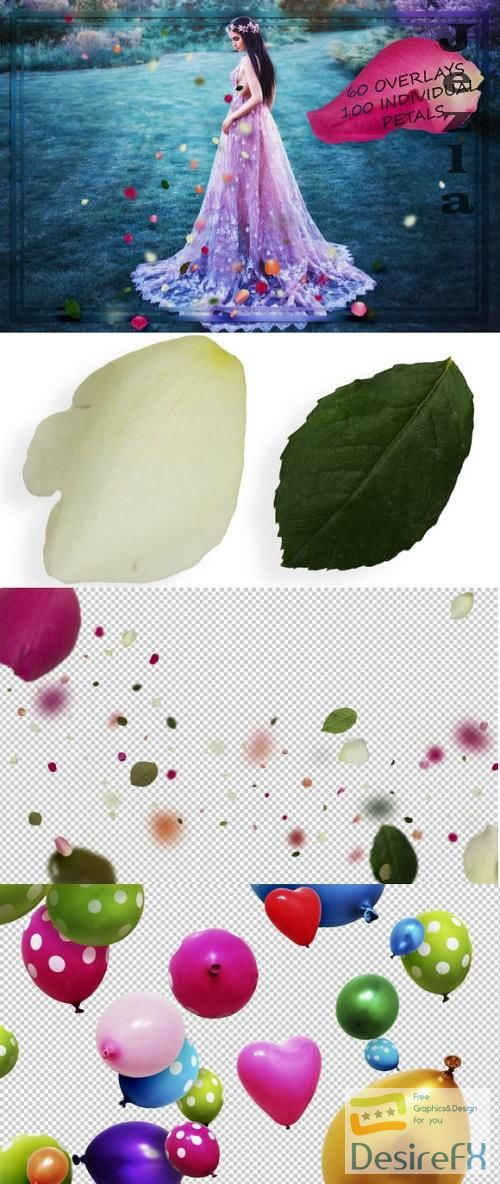 Mix Petals & Leaves Overlays