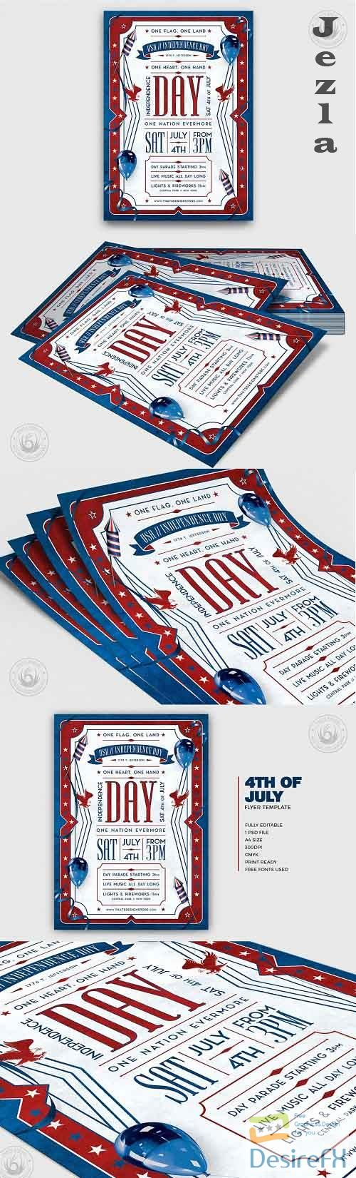 Independence Day Flyer Template V4 - 4996081