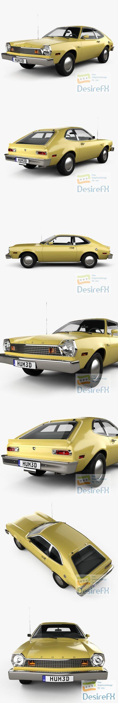 Ford Pinto hatchback 1976 3D Model