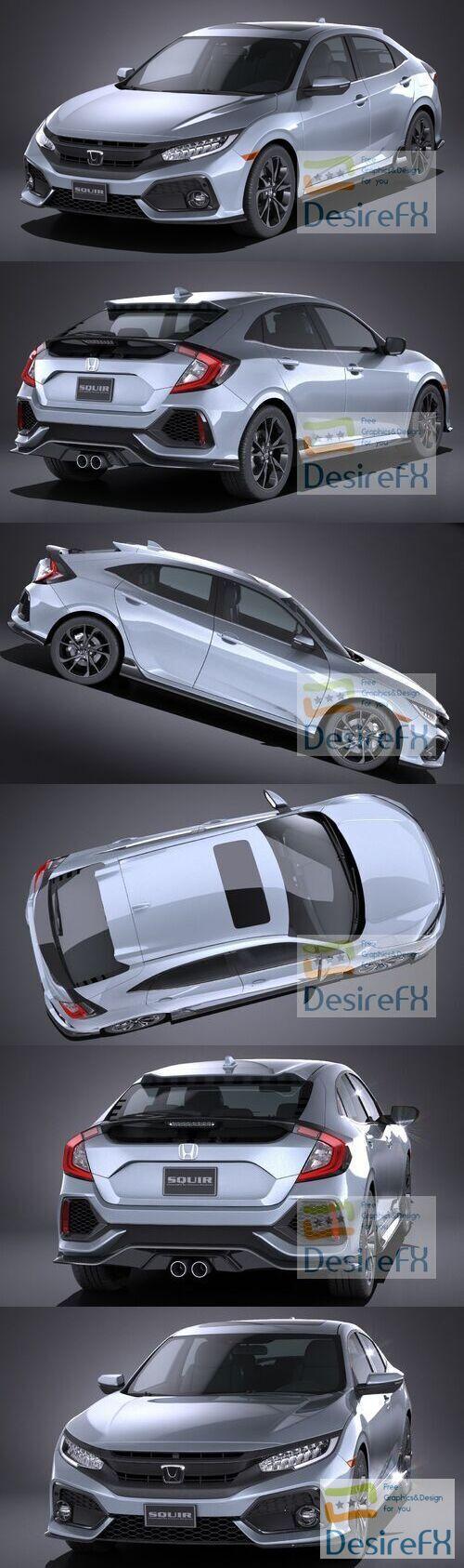 Honda Civic Hatchback 2017 3D Model