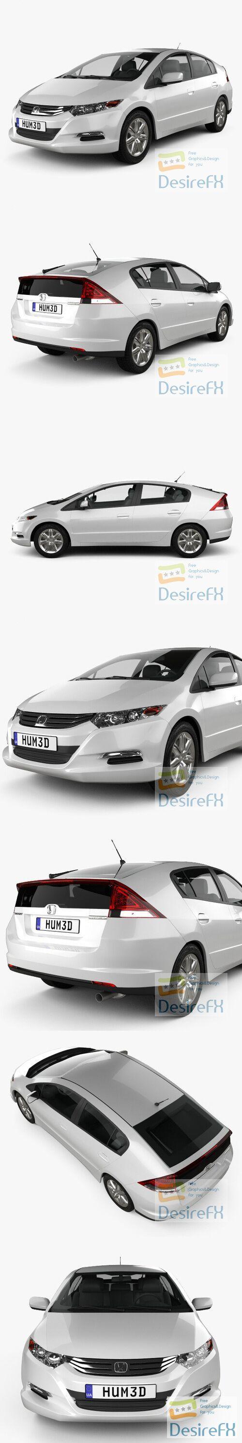 Honda Insight Hybrid 2010 3D Model