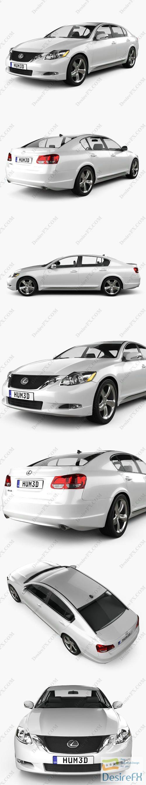 Lexus GS 2010 3D Model