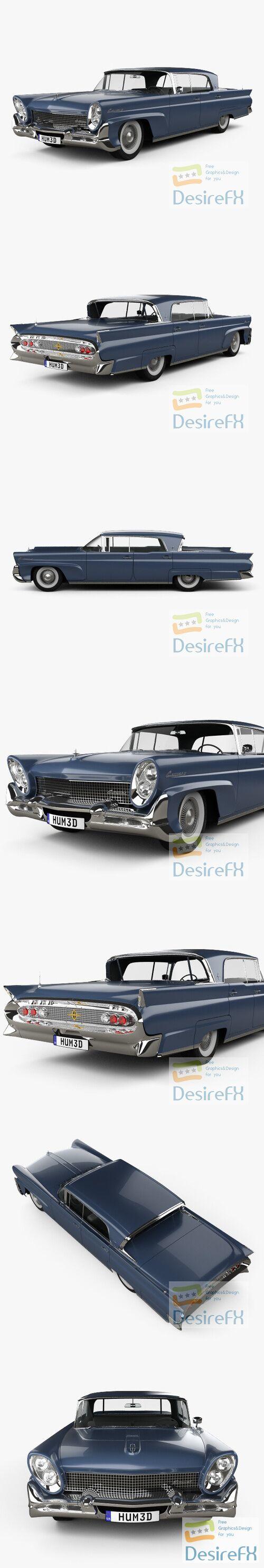 Lincoln Continental Mark III Landau 1958 3D Model