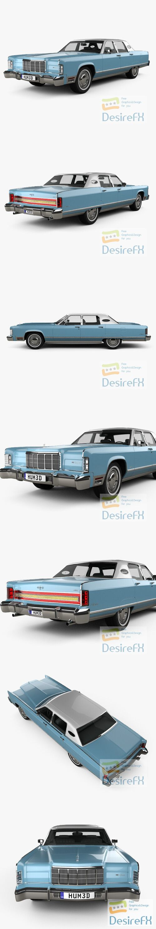 Lincoln Continental 1975 3D Model