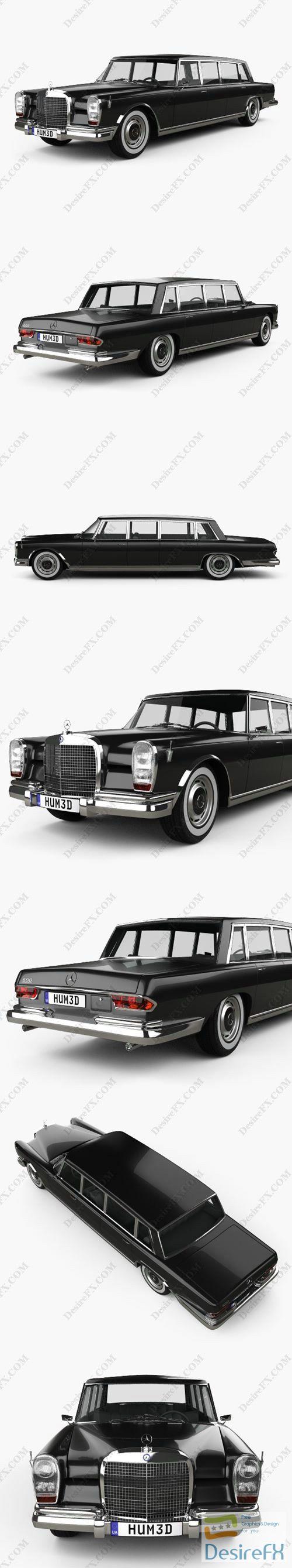 Mercedes-Benz 600 W100 Pullman 1964 3D Model