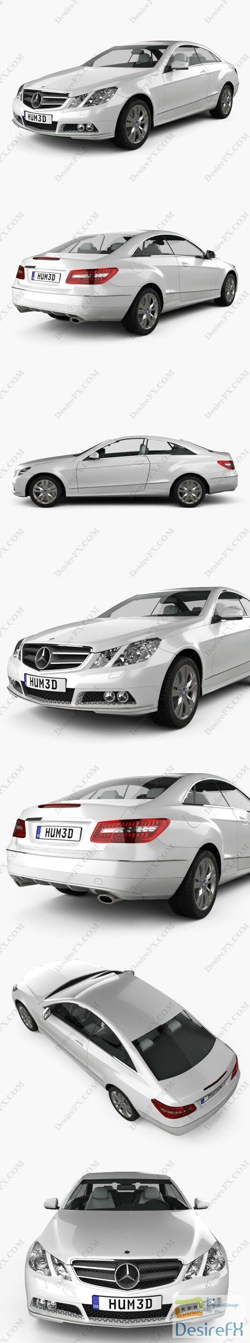 Mercedes-Benz E-Class coupe 2011 3D Model