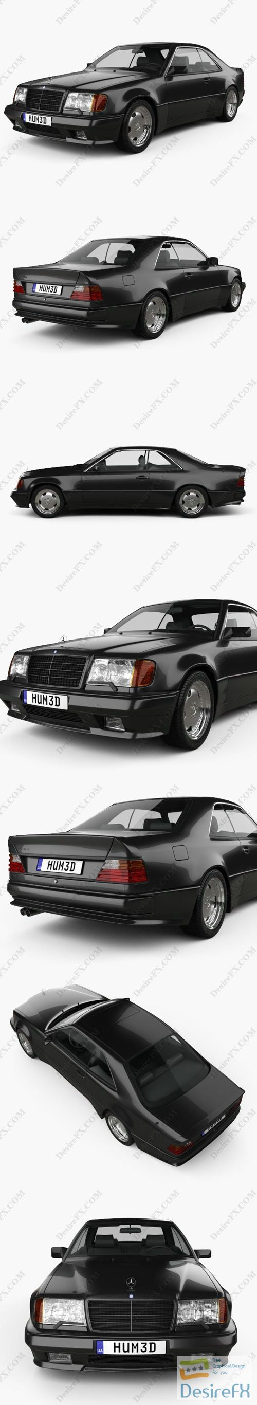 Mercedes-Benz E-class AMG widebody 1988 3D Model