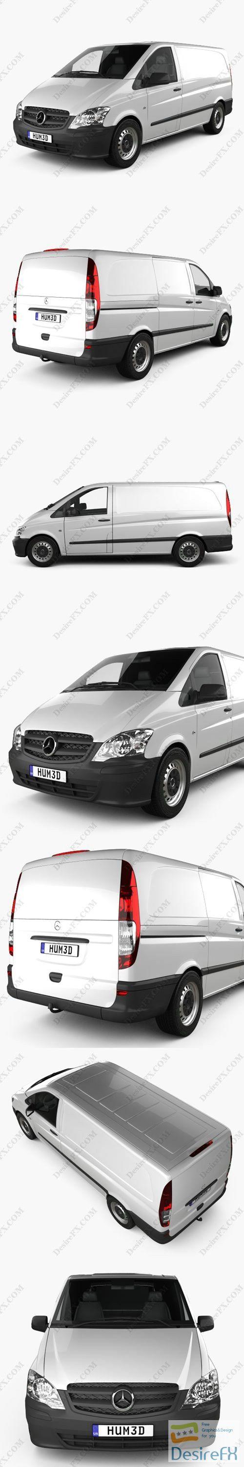 Mercedes-Benz Vito Panel Van Long 2011 3D Model