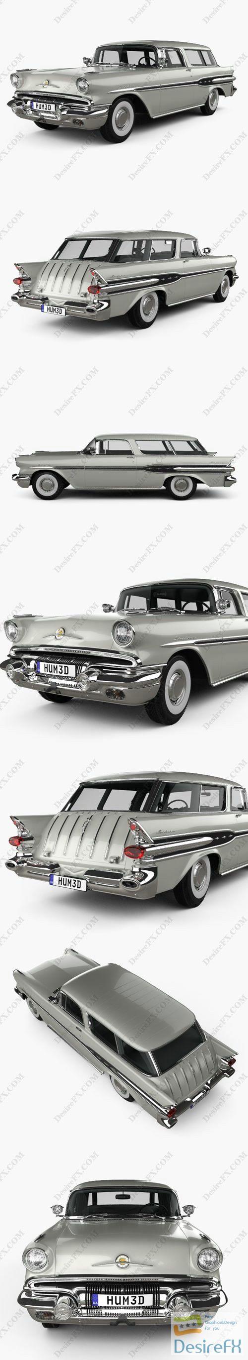 Pontiac Star Chief Custom Safari 2-door 1957 3D Model