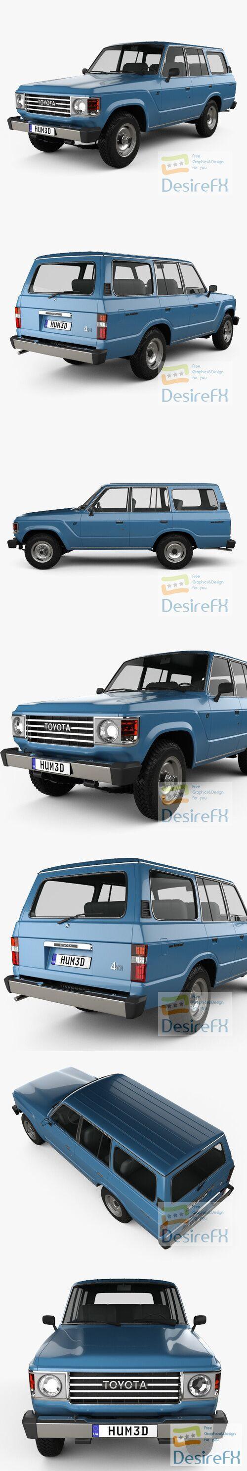 Toyota Land Cruiser 1980 3D Model