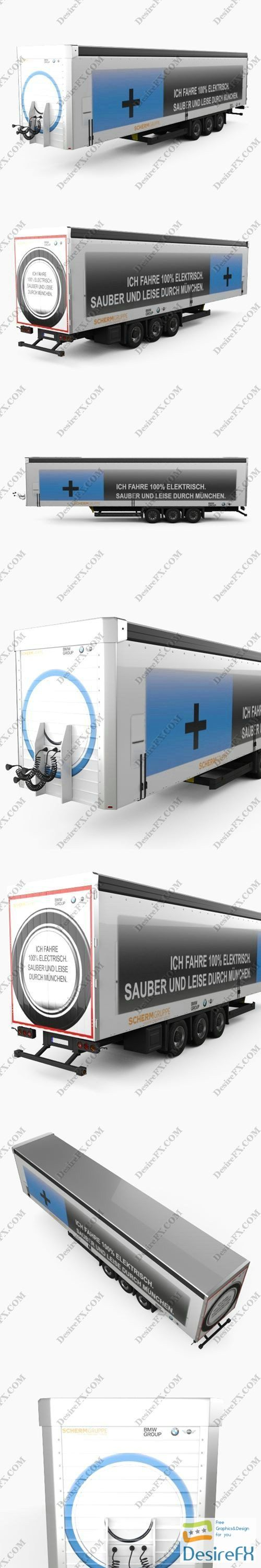 BMW Factory Semi Trailer 2015 3D Model