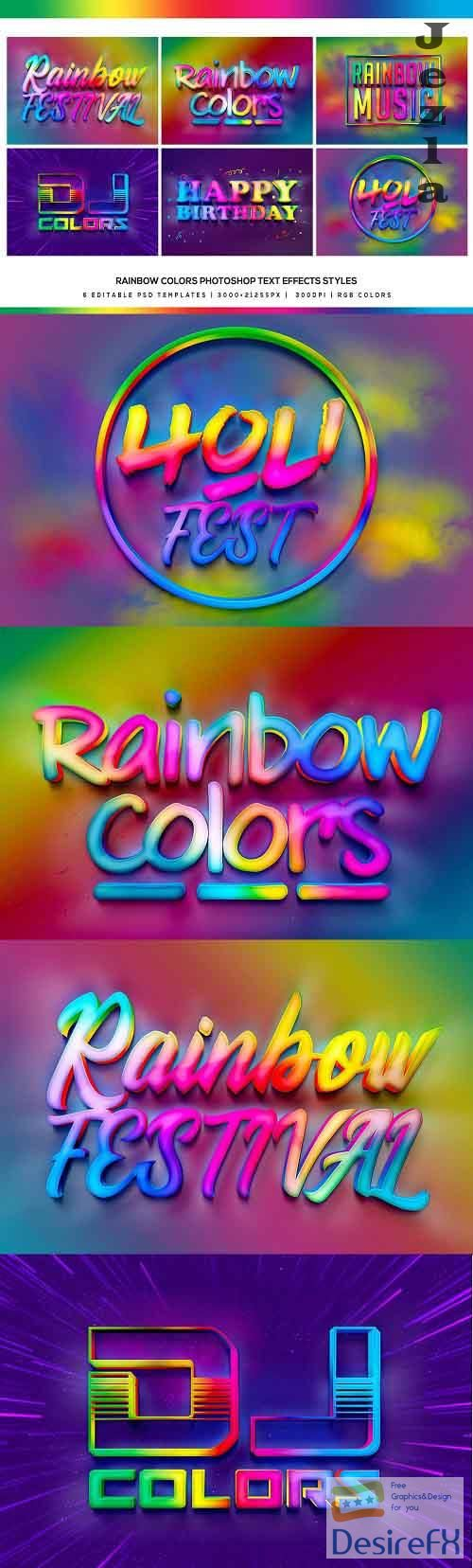 Rainbow Colors Photoshop Text Effect - 5033957