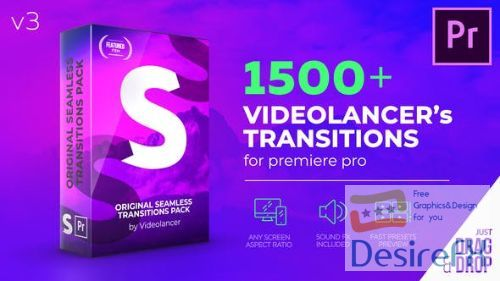 Videohive Videolancer's Transitions for Premiere Pro | Original Seamless Transitions V3 22125468