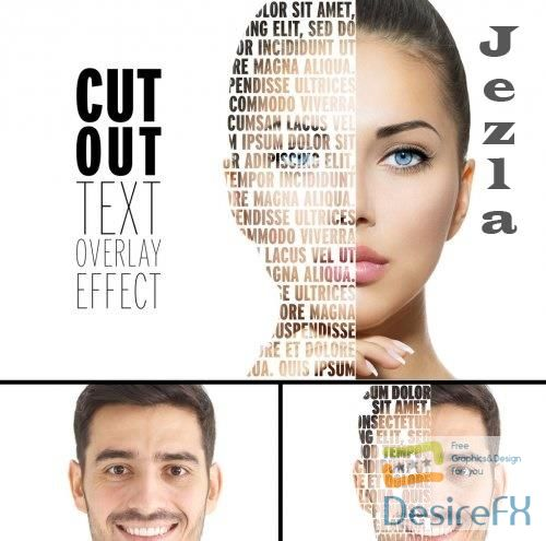 Cut Out Overlay Text Effect Mockup 356194601