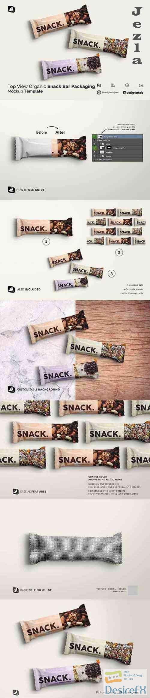 Organic Snack Bar Packaging Mockup - 4836461