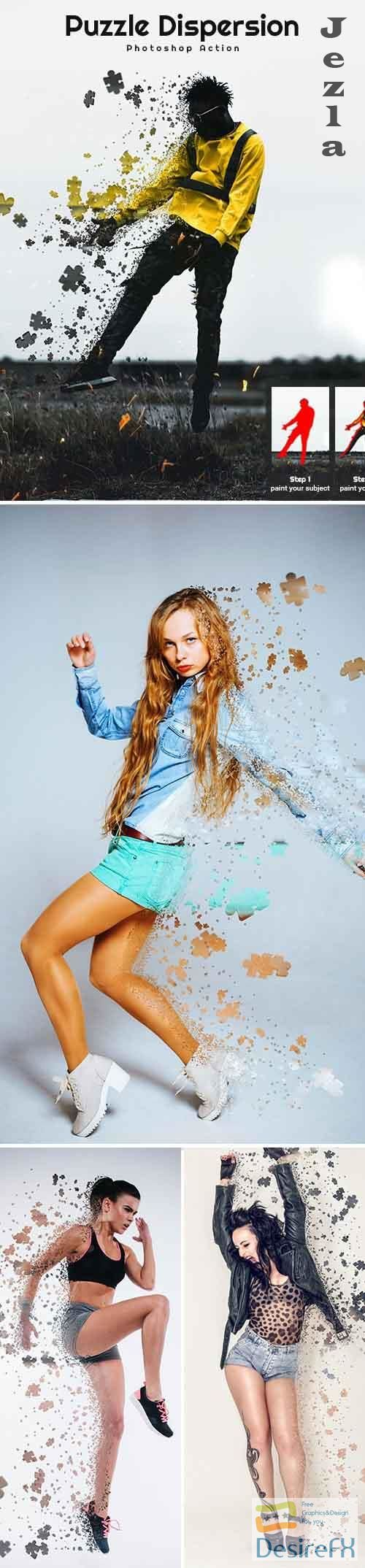Puzzle Dispersion Photoshop Action 26396228