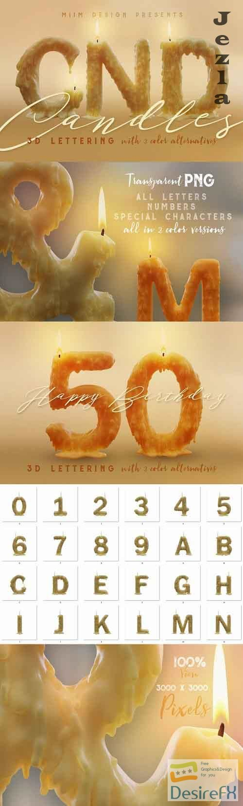 Candle Light - 3D Lettering - 2217333