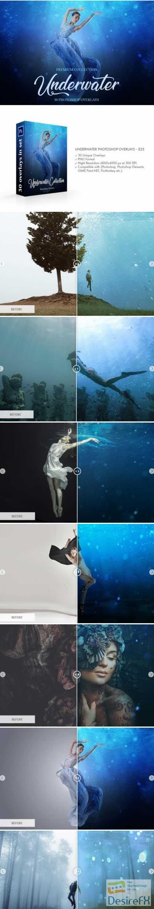 Underwater Photoshop Overlays 4736171