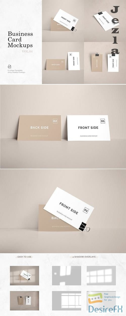 Business Card Mockups Vol.4 - 5038403