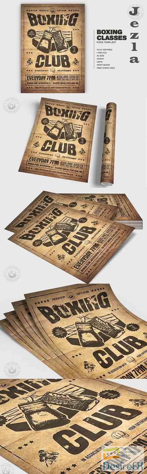 Boxing Classes Flyer Template V2 - 5052481