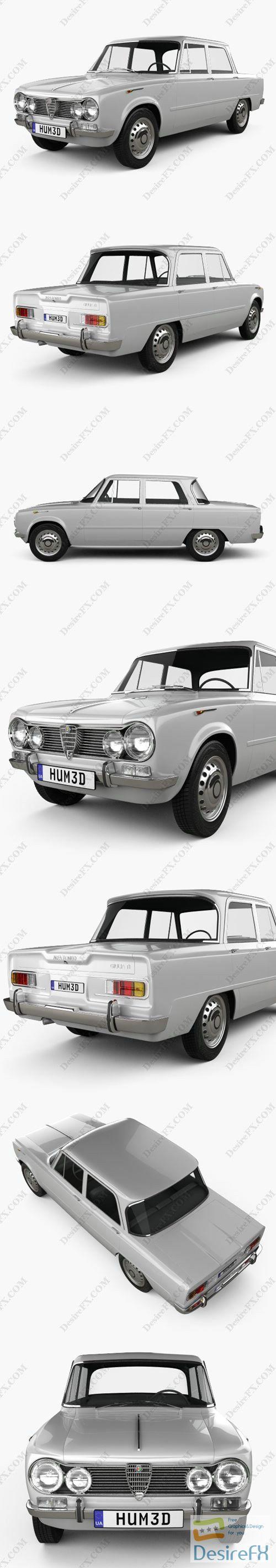Alfa Romeo Giulia 1962 3D Model