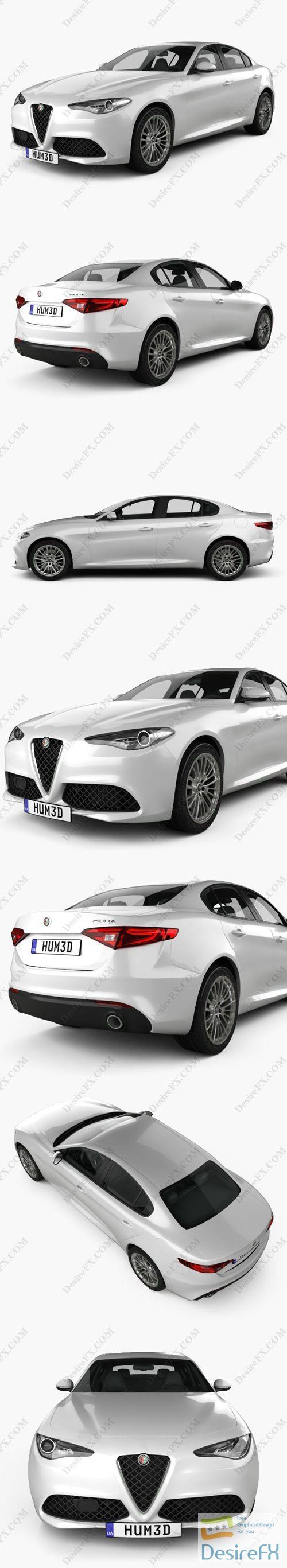 Alfa Romeo Giulia 2016 3D Model