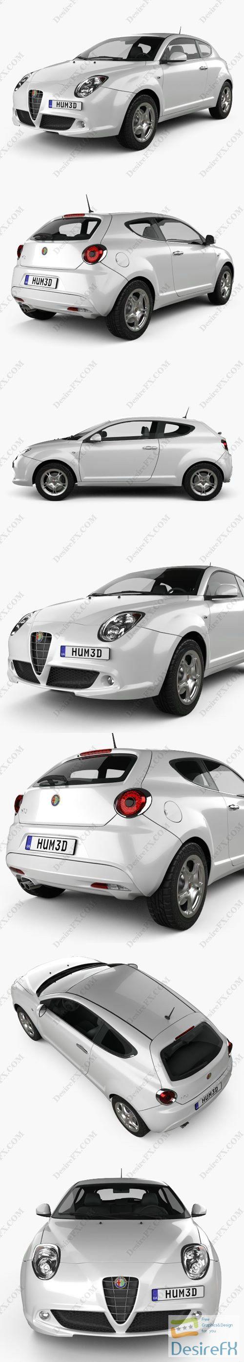 Alfa Romeo MiTo 2009 3D Model