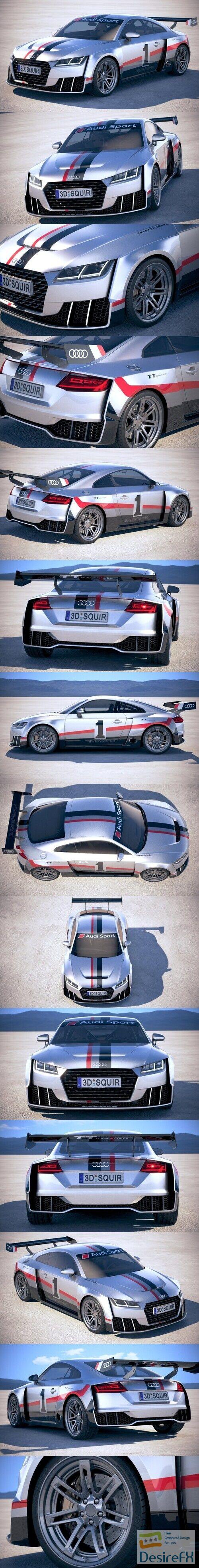 Audi TT RS Clubsport Turbo 2017 3D Model