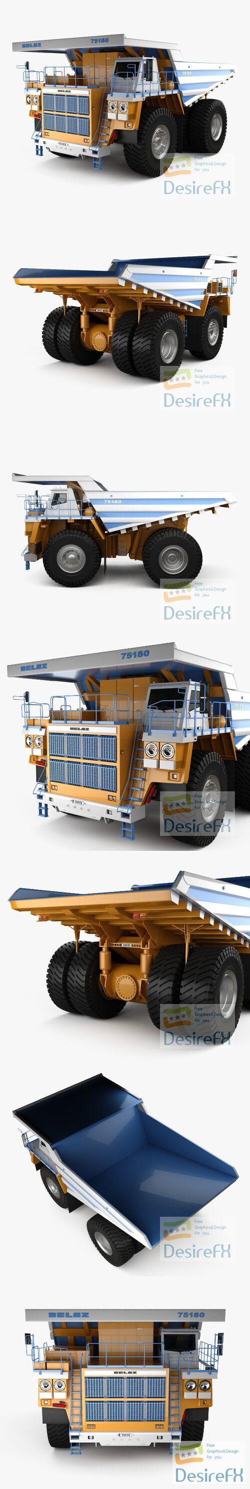 BelAZ 75180 Dump Truck 2014 3D Model