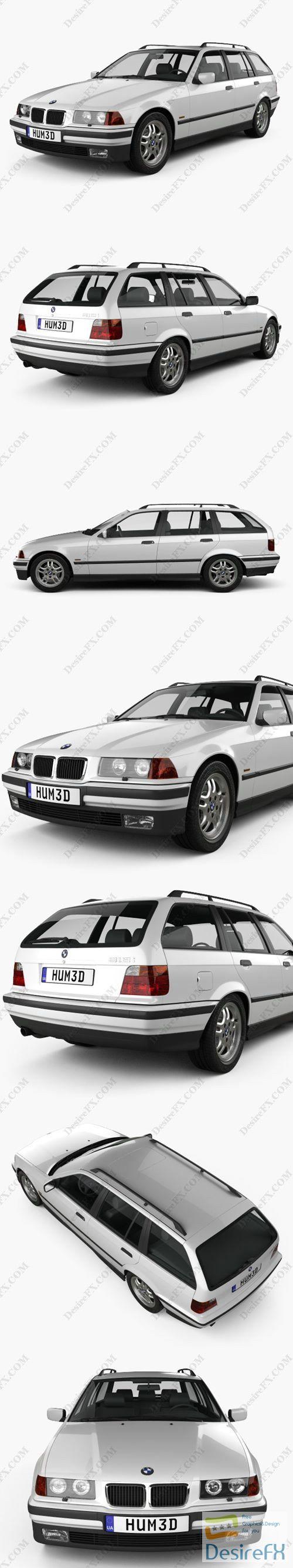 BMW 3 Series touring 1994 3D Model